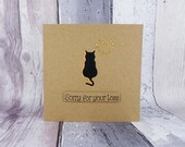 Cat sympathy card, Thinking of you card, Handmade loss of a cat card, Cat condolences card, Death of a pet card, With sympathy cat card