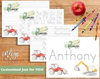 School Printable Letter Writing Paper | Kids Worksheet Handwriting Practice | Letter Tracing | Homeschool | Handwriting DIGITAL Worksheet