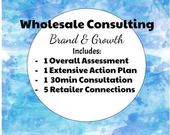 Wholesale Brand Consulting, Wholesale Assistance, Wholesale Line Sheet, Wholesale Consulting, Product Pricing Assistance, Wholesale Help