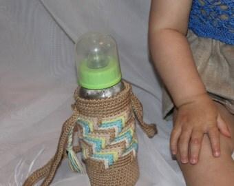 Newborn bottle cover Baby bottle cozy Kids bottle holder Bottle bag baby Crochet bottle cover Baby bottle holder Cotton bottle cover
