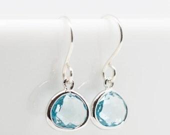 Earrings Silver Aquamarine Earrings Genuine 925 silver