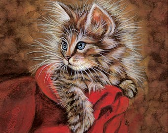 Personalized Cat-Acrylic portrait on canvas-Portrait on Pet Commission