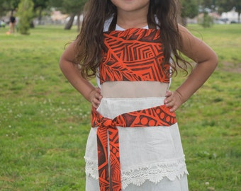 Moana Inspired Dress Up Apron