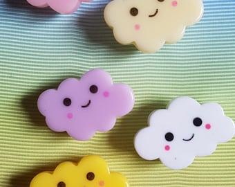 Cute Kawaii Cloud Pin Lapel Pin, Hat Pin, Brooch, Badge Stocking Filler