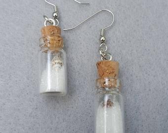 Seashell in a Bottle Earrings