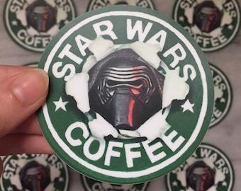 Star Wars Coffee Kylo Ren Sticker - The force awakens - the last Jedi