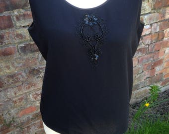 Vintage Frank Usher sleeveless top