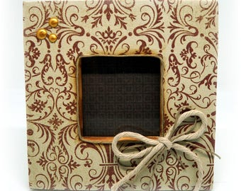 Brown small photo frame