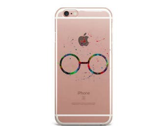 Harry Potter Glasses Watercolor Magic Clear Soft TPU Case Cover For iPhone 7 7 Plus 6 6S Plus 5 5S SE Fundas Coque