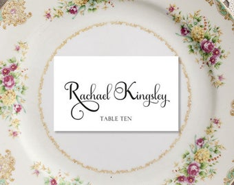 Calligraphy Font Place Cards, Escort Cards, Boho Wedding Place Cards, Wedding Reception Cards, Calligraphy Place Cards, Escort Wedding Cards