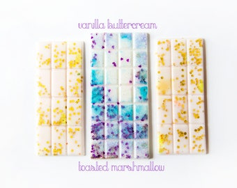 Vanilla Buttercream | Toasted Marshmallow | Wax Melts (5 Oz.) - Hand Poured Wax - Snap Bars - Handmade Wax Melts - Vanilla - Marshmallow