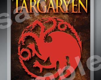 New! Game Of Thrones House Targaryen 4x6 Lanyard Badge Tag HBO Stark Lannister Jon Snow Dragons Seven Kingdoms Westerns Nights Watch