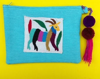 Otomi clutch, Otomi bag, Otomi embroidery, Mexican clutch, Mexican bag, Mexican hand bag, Mexican handmade bag, Embroidered bag