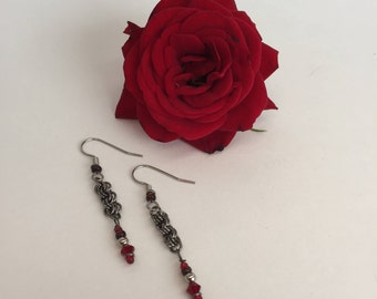 Chainmaille Dangle Earrings