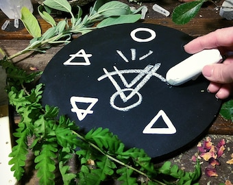 Altar Offering Plate Erasable Sigil Board  Ritual Magick Witchcraft Witch