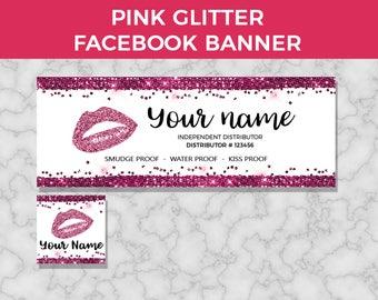 Lipsense Facebook Banner, Lipsense Facebook Cover, Lipsense Facebook Glitter, Senegence Facebook Banner, Lip Sense, FB Cover Photo, Download