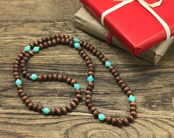 Wood Bead Necklace | Wooden Necklace, Beaded Necklace, Boho Wood Necklace, Earthy Beaded Necklace | Earthy Boho Jewelry For Less