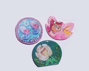 Alice in Wonderland inspired brooches