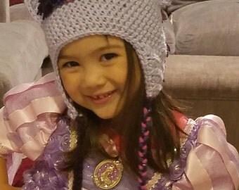 child crochet pony/unicorn beanie