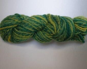 green silk and Merino Wool skein