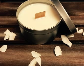 Coconut Soy Candle 8oz/candles/natural soy/party favors/wedding favors