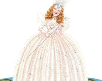 Glinda of Oz Colored Pencil Fan Art Print