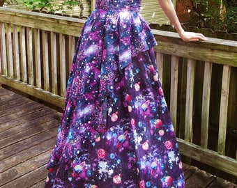 Galaxy Flounce Dress