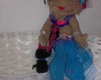 Doll style 40 cm crochet soft Jasmine.