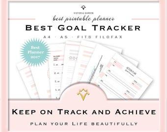 GOAL TRACKER, Goal Planner, Planner Pack, Planner, Kit, Goal Planning, Planner Pages, Planner Insert, Printable Planner, Printable