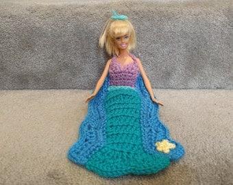Mermaid Blanket Crochet Pattern, 11.5 in Fashion Doll Blanket, Princess Dress Blanket Pattern, Doll Crochet Pattern, Crochet Doll 1/6 scale