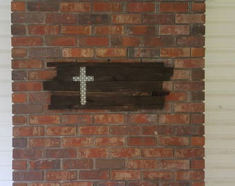 Wall Cross- Spring Decor - Wooden Cross Wall Decor - Wooden Cross for Wall - Wood Cross Wall Decor - Wall Cross Wood - Cross Decor