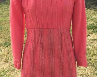 1960's mauve long sleeve dress