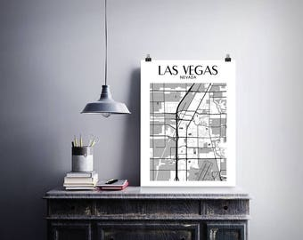 Las Vegas Print, Las Vegas Poster, Map of Las Vegas, Las Vegas Map Poster, Las Vegas Art, Las Vegas Gift Wall Decor, Las Vegas Wall Art