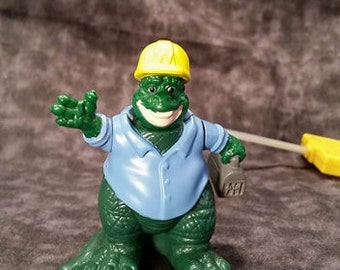 1992 Dinosaurs TV Show/ Earl Sinclair Dad Dinosaur/ Vintage Happy Meals Toy/ Wire Control Movement/Vintage 90's