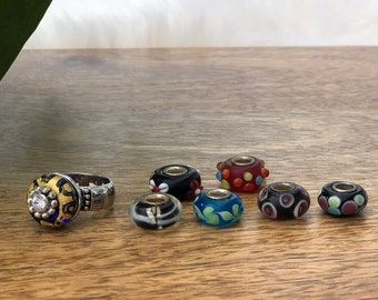 glass bead ring | womens size 6