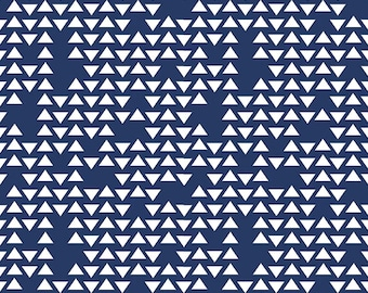 Flannel Fabric, Navy Blue Flannel by the Yard Geometric Flannel Quilt Cotton Flannel Baby Flannel Apparel Fabric Riley Blake Cotton Fabric