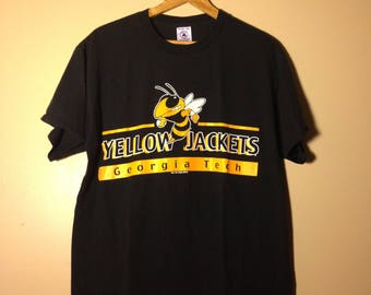 Vintage Georgia Tech Yellow Jackets Tee - Large