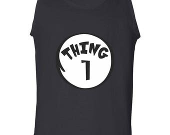 Thing 1 Funny Clothing Adult Camisole Best Seller Designed Tank Top Men's Shirt