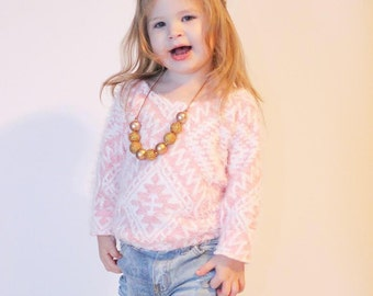 Gold Rush - Adjustable Chunky Bead Tassel Necklace- Holiday Bubblegum Necklace-