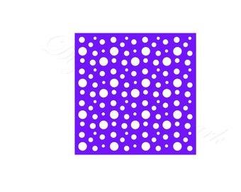 Polka Dot Stencil SVG & Studio 3 Cut File Stencils Designs for Silhouette Cricut Files Cutouts Svgs Digital Template Stained Glass Patterns