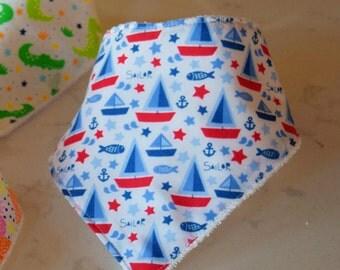 Bandana Bib | Drool Bib | Baby Shower Gift | Baby Gift | Baby Boy Gift | Nautical Baby | Drooling Bib | Nautical Baby Decor | Baby Bibs