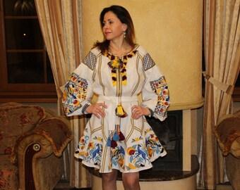 Ukrainian Embroidery Vyshyvanka Dress Bohemian Clothes Embroidered dresses Custom Boho Clothing Gift Vishivanka Ethnic Mexican Embroidery