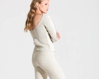 Betty Open Back Sweater - Organic Pima Cotton