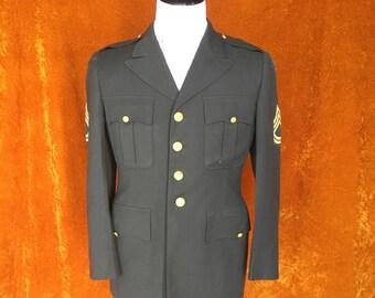 Vintage 1970s Mens Army Coat, Vietnam Era, Army Jacket