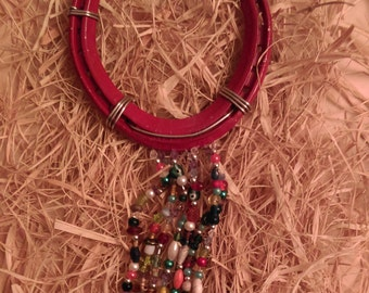 Handmade Lucky Charm Horseshoe with Beads