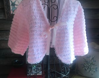 Vintage bed jacket with frills upon frills