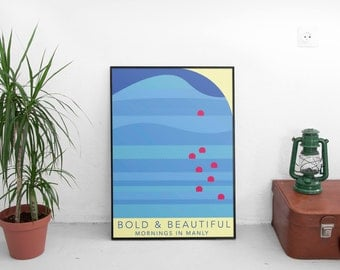 Manly Beach Bold and Beautiful Print
