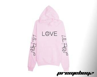 Lil Peep Sweatshirt - Hoodie - Love - Light Pink