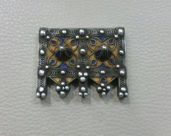 Moroccan Berber Silver Amulet Hirz Pendant