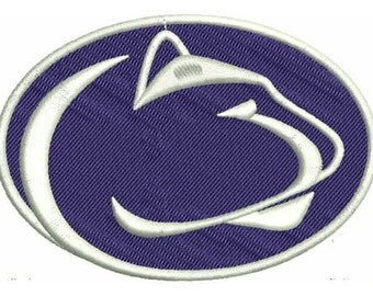 Penn State Nittany Lions Logo Machine Embroidery Design 4 Sizes